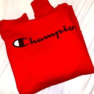 CHAPMION HOODIE- RED